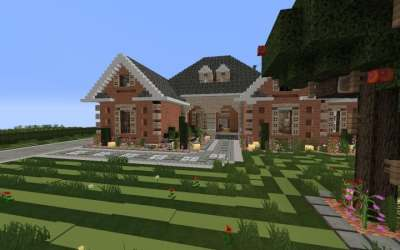 suburban minecraft brick building houses designs modern idea amazing mincraft featured minecrafthousedesign july hello second welcome series
