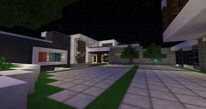 Modern Mansion In Beverley Hills Minecraft House Design