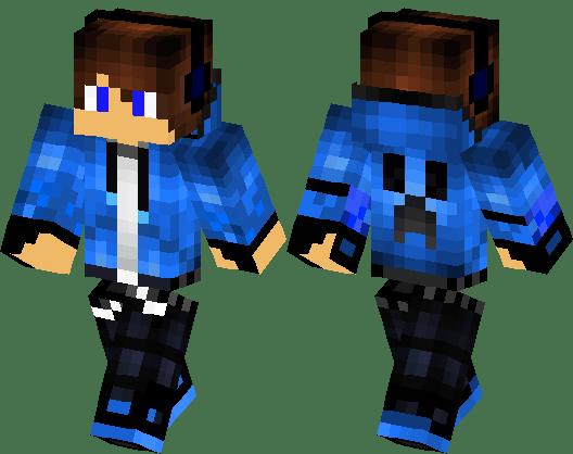 Cool Skins Blue Minecraft Skin Minecraft Hub