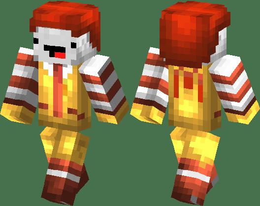 Ronald Mcdonald With Derp Face Minecraft Skin