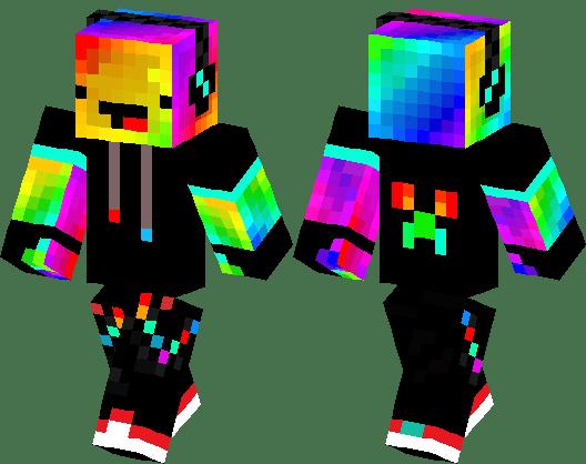 Cool Swaggy Rainbow Derp Minecraft Skin Minecraft Hub