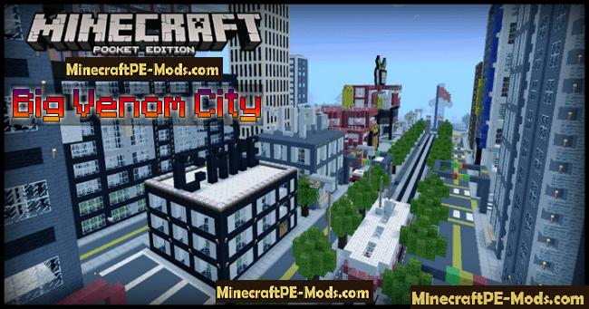 Big Venom City Creation Map For Minecraft PE 1120 1114 1111 Download