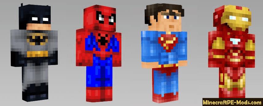 Superheroes Skins Pack For Minecraft PE 18010 17013 161 153