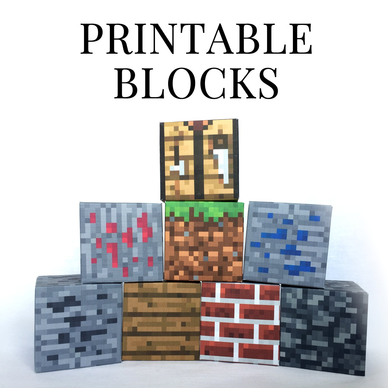 Minecraft Printable Papercraft Blocks  SET 3