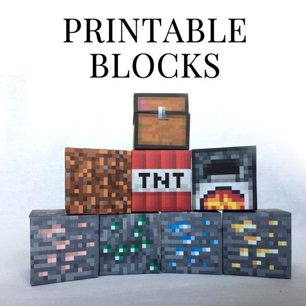 minecraft printable blocks # 32