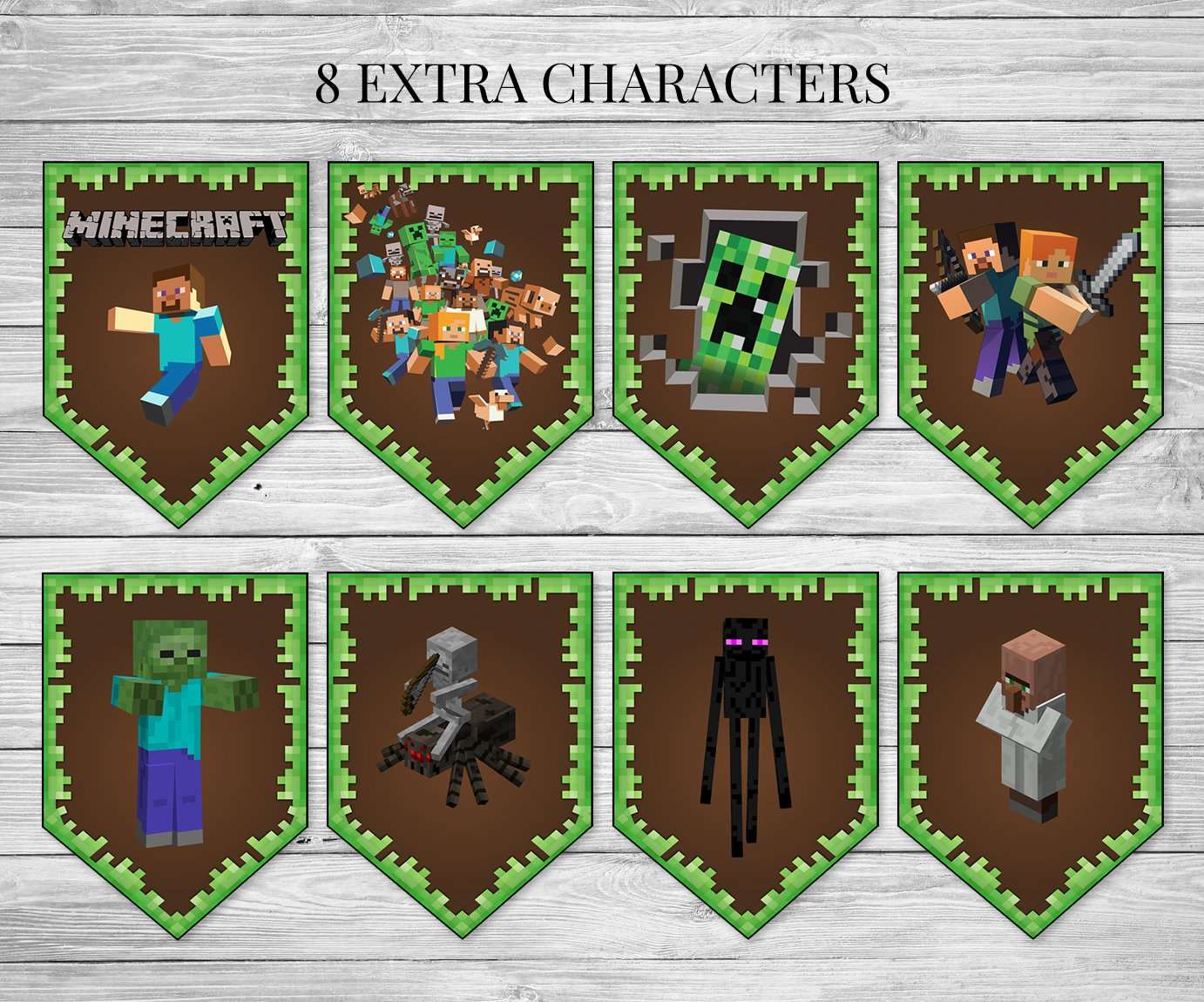 photograph regarding Minecraft Birthday Banner Free Printable called Minecraft Banner No cost Printable - Researching Mars
