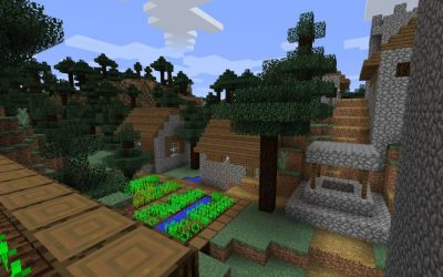 blacksmith village minecraft iron wooded seed taiga pc swamp seeds extreme java hq mac minecraftseedhq