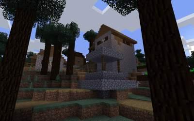 Taiga Blacksmith Village: Beware of Wolves Minecraft Seed HQ