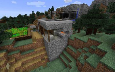 blacksmith village npc minecraft oak dark taiga seed villager elevated cobblestone