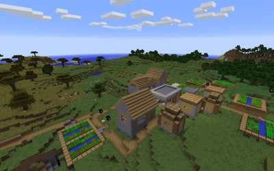 village seed blacksmith minecraft spawn iron seeds java edition pc desert ve mineshaft ravine easiest chest taiga abandoned minecraftseedhq