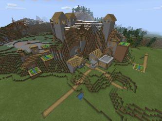 seed village blacksmith minecraft mountain witch pe hut bedrock island edition mushroom pocket minecraftseedhq