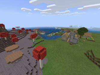 Minecraft PE Mushroom Island Seeds/Bedrock Edition Mushroom Island Seeds