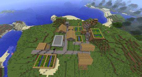 Minecraft 1 2 Seed: Village with Blacksmith Villages