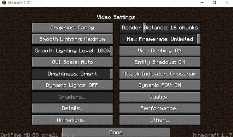 How to Fix Shaders Button Does Not Work on OptiFine 1.17