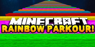 Extreme Rainbow Road parkout mario kart minecraft 1.8.1