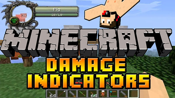 Damage Indicators Mod for Minecraft 1.8