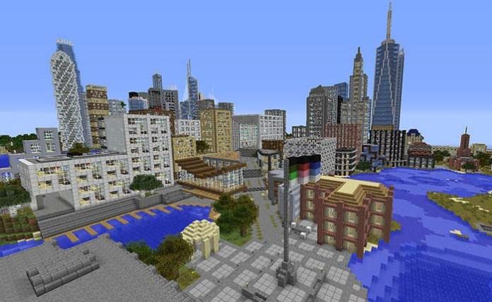 Skyscraper City Map for Minecraft 1 9 | MinecraftSide