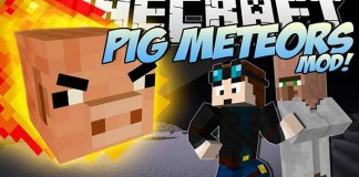 Pig Meteors Mod for Minecraft