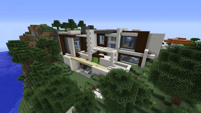 Modern redstone smart house map for minecraft 1 9 1 8 9 for Minecraft modern house download 1 8