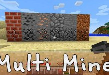 Multi Mine Mod for Minecraft