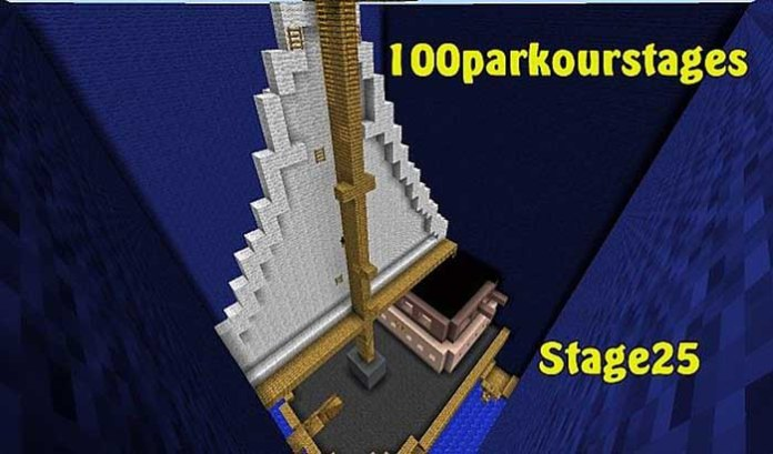 100 Stage Parkour Map for Minecraft 1.8.9/1.9