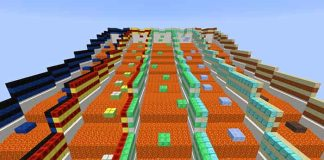 Downwards Parkour Map for Minecraft 1.8.9/1.9
