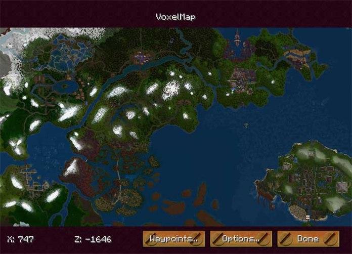 VoxelMap Mod for Minecraft 1.9/1.8/1.7.10 | MinecraftSide
