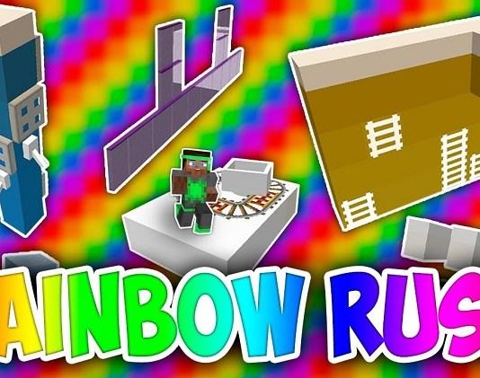Rainbow Rush Map for Minecraft