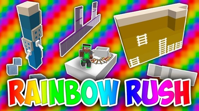 Rainbow Rush Map for Minecraft