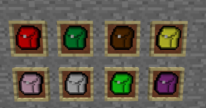 Backpacks Mod for Minecraft 1.8.6, 1.8.4, 1.8.3, 1.8.1, 1.7.10