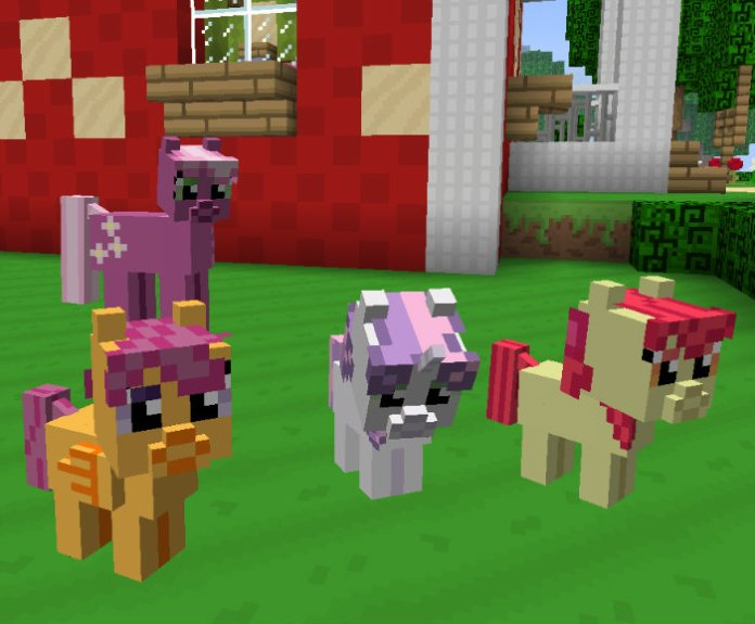 Mine Little Pony Mod For Minecraft MinecraftSix - My little pony skins fur minecraft