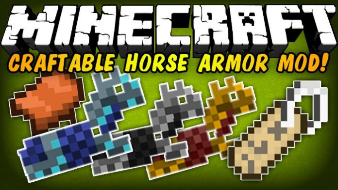 Craftable Horse Armour & Saddle Mod for Minecraft 1 12 2