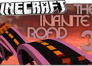 infinite road  map minecraft