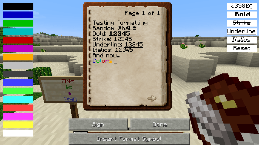 Text Formatting Mod For Minecraft 1710 Minecraftsix