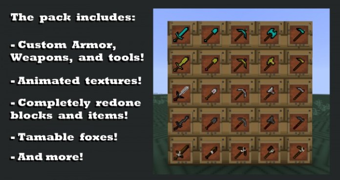 Fox Craft Resource Pack for Minecraft 1 13 1/1 12 2 | MinecraftSix