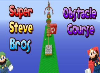 Super Steve Bros Obstacle Course map