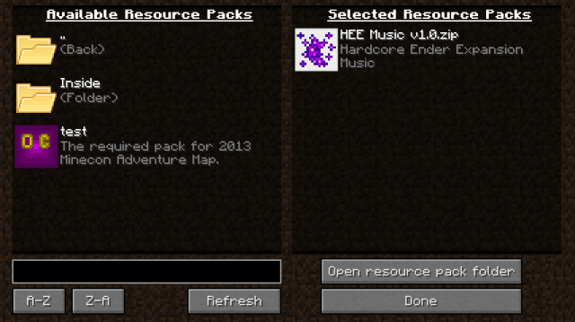 resource-pack-Organizer-mod