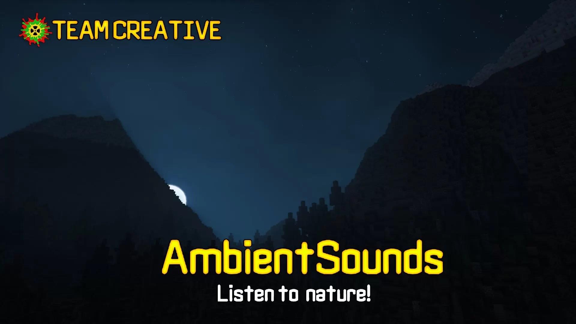 Ambient Sounds Mod For Minecraft MinecraftSix - Minecraft namen andern 2016