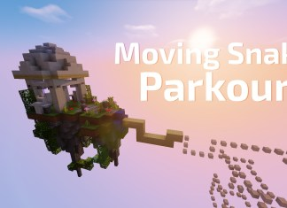 moving snake parkour map