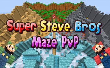 super steve bros maze pvp map