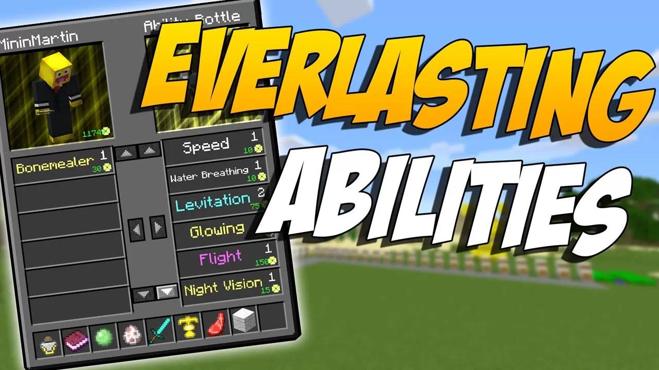Everlasting Abilities Mod for Minecraft 1 12 2/1 11 2