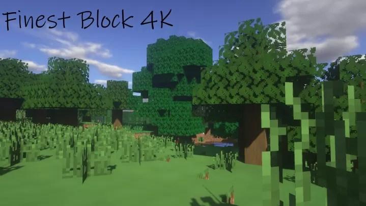 Finest Block 4k Hd Resource Pack For Minecraft 1 14 1 13 2 1 12 2 Minecraftsix