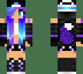 My Galaxy Wolf Girl Skin Minecraft Skin