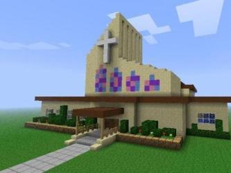 minecraft church shops build modern buildings houses springfield minecraftstuff building cool tutorial schematic went designs blueprints broken built link sandstone