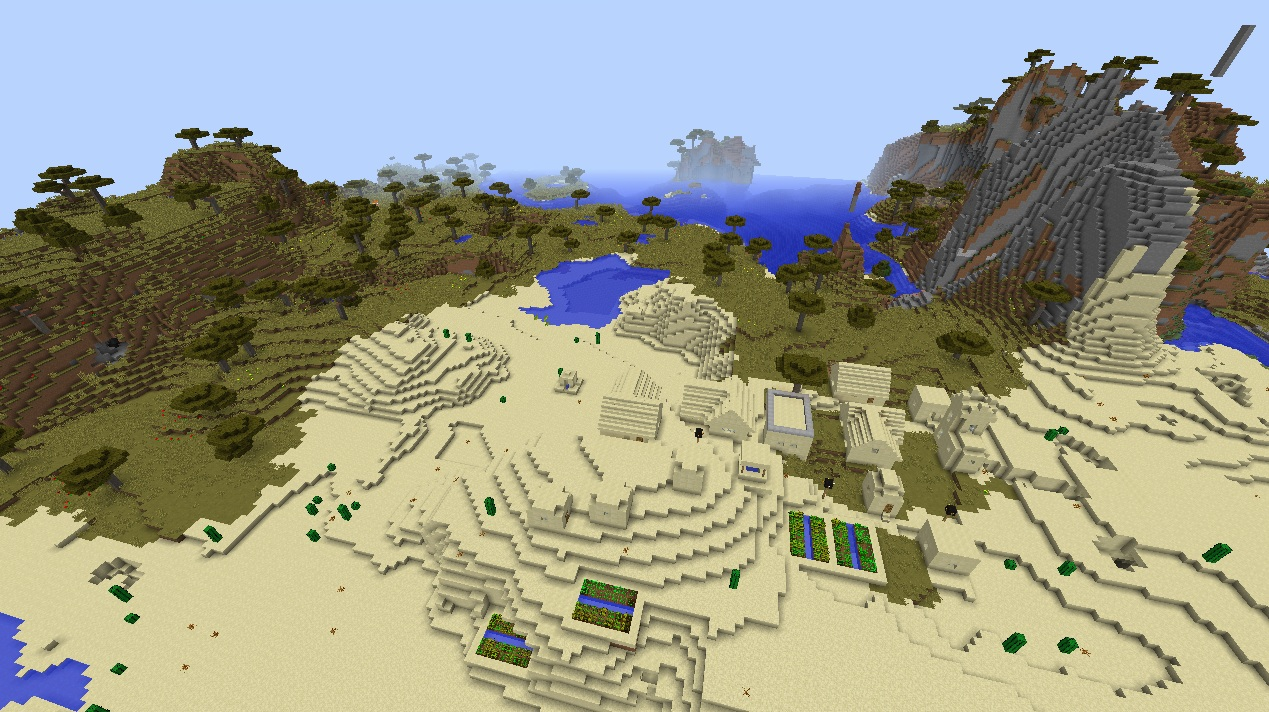 FileMinecraft Village Seed Three Villages Desert Moutnains Awesome Cool Fun 182jpg