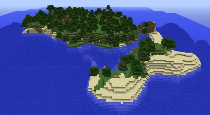 Falling Water Live Wallpaper Minecraft Survival Island Seeds 1 8 4 Minecraft Seeds Wiki