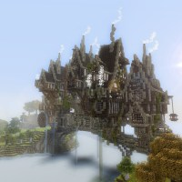 Minecraft Steampunk Download | Steampunk Bridge Town