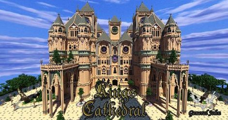 minecraft cathedral map save king makers own