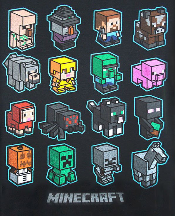 Minecraft-Figurer-Tshirt