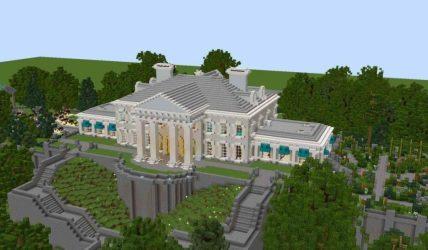 minecraft cool modern mansion simple